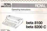 BETA 8100 BETA 8200 C Operating Instructions