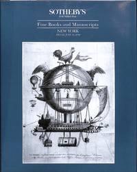 Sale 6581, 10 June 1994: Fine Books and Manuscripts.