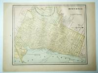 1889 Color Map of the City of Montreal, Quebec