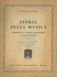 Storia della musica esposta in tavole sintetiche ad uso scolastico.