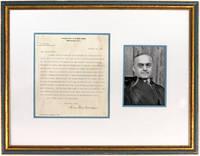 Typed Letter, Signed, on US Supreme Court Letterhead, Framed