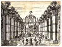 Feste theatralie per la Finta Pazza drama (Etching from the 1645 Paris Livret) Etching on paper