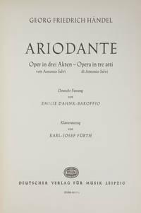 Ariodante Oper in drei Akten von Antonio Salvï... Deutsche Fassung von Emlie Dahnk-Baroffio Klavierauszug von Karl-Josef Fürth. [Piano-vocal score]