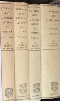 Science & Civilisation in China (Vols. I-IV Complete and Vol. V Parts 2 & 3) --8 Books