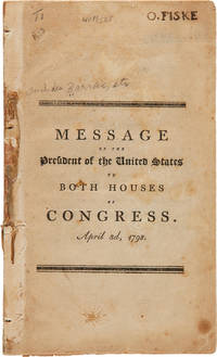 MESSAGE OF THE PRESIDENT...TO BOTH HOUSES OF CONGRESS. APRIL 3d, 1798