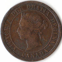 A 1876 Large One Cent Coin from Canada