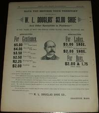image of Original 1890 Full Page Illustrated Advertisement for W. L. Douglas Shoe  Company