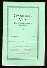 image of Contemporary Verse: November 1920