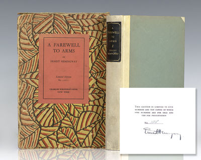 New York: Charles Scribner's Sons, 1929. Signed limited first edition of this early Hemingway classi...