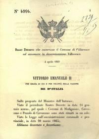 che autorizza il Comune di Villaresco ad assumere la denominazione Villavesco.