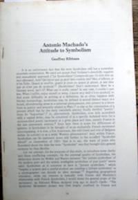 Antonio Machado's Attitude to Symbolism.