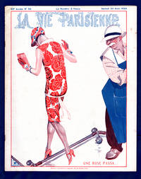image of La Vie Parisienne - Samedi 22 Aout 1925.  Art Deco/Nouveau.  Illustrations by Cheri Herouard, Georges Leonnec, Henry Fournier, Henri Avelot, Maurice Milliere, Georges Pavis, and others uncredited