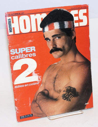 Paris: Editions S.A.N., 1986. Magazine. 48p., includes covers, b&w and color nude male photos, full-...