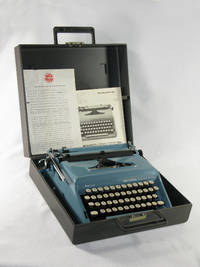 Gorgeous teal blue typewriter in pristine condition owned  and used by The Yankee Clipper Joe...