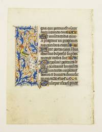 WITH FINELY EXECUTED PANEL BORDERS FEATURING DELIGHTFUL ZOOMORPHIC INHABITATION by  FROM AN ENGAGING LITTLE BOOK OF HOURS IN LATIN  OFFERED INDIVIDUALLY - ca. 1460s - from Phillip J. Pirages Fine Books and Medieval Manuscripts (SKU: ST12021aB)