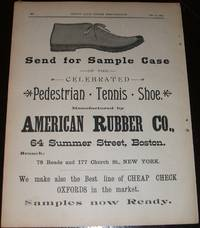 image of Original 1890 Full Page Illustrated Advertisement for American Rubber  Company