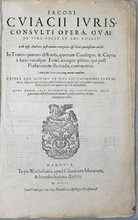 image of In Tomos Quatuor Distincta, Quorum Catalogus, & Capita a Facie Cuiusque Tomi, Excepto Primo, Qui Post Praesationem Illa Tradit, Continentur...