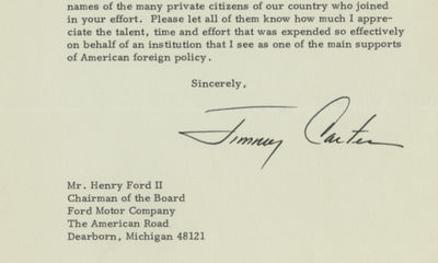 6/2/78. Jimmy Carter Ford was a long-time advocate of the UN, with a strong record interest in promo...