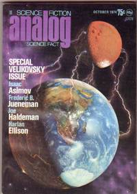 Analog Science Fiction - Science Fact October 1974, Special Immanuel Velikovsky Issue, The Search for Truth, CP (Crackpot), Sleeping Dogs, Truth to Tell, Inhuman Error, Contact!, Gone with the Gods, A Matter of Gravity, +