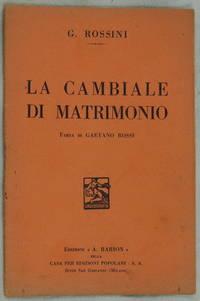LA CAMBIALE DI MATRIMONIO FARSA