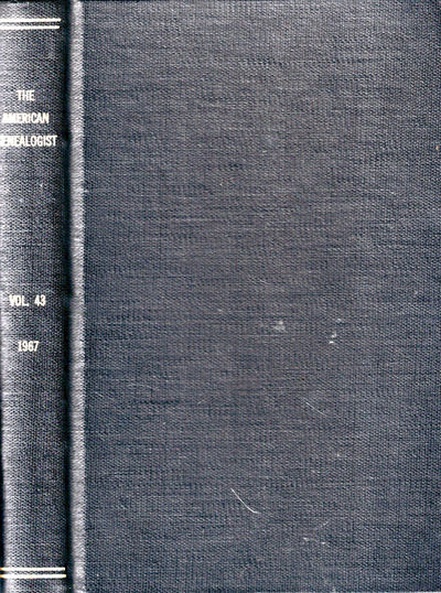 Des Moines: The American Genealogist, 1967. Hardcover. Very good. 256pp+ index. Volume 43 numbers on...
