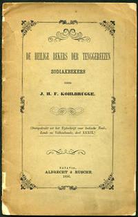 De Heilige Bekers der Tenggereezen. Zodiakbekers. (Overgedrukt uit het Tijdschrift voor Indische Taal-, Land- en Volkenkunde, Deel XXXIX)
