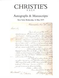 Sale 8001, 14 May 1997: Autographs and Manuscripts Incl. American  Historical Manuscripts from the Estate of a New England Collector and  Other Historical, Literary and Medical Manuscripts.