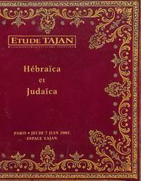 Vente Du 7 Juin 2001: Hébraïca et Judaïca, Précieuse Collection De Livres  Anciens et Modernes Sur La Bible, Le judaïsme et Les Juifs 1486-1961 à  Divers Amateurs.