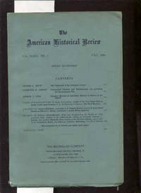 THE AMERICAN HISTORICAL REVIEW Vol XXXVI 1931 No 4
