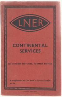 image of Continental Services 6th October 1935 until further notice