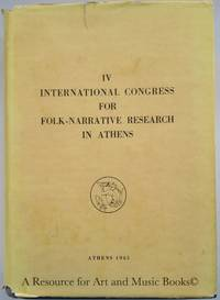 IV International Congress for Folk-Narrative Research in Athens