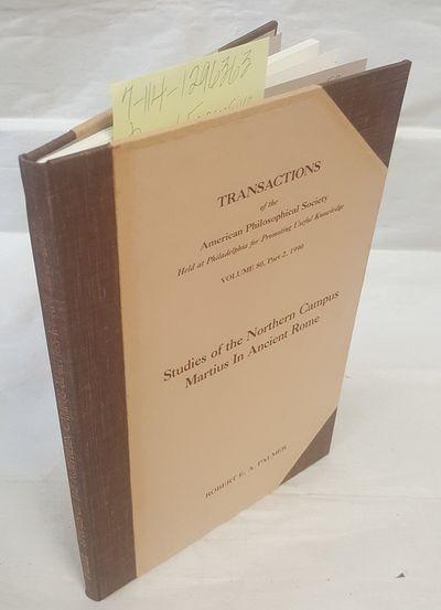 Philadelphia: The American Philosophical Society, 1990. Hardcover. Octavo; VG-/no-DJ; Dark brown spi...
