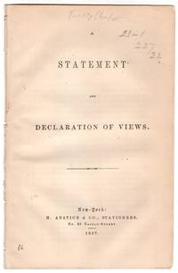 A Statement and Declaration of Views