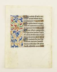 WITH FINELY EXECUTED PANEL BORDERS FEATURING DELIGHTFUL ZOOMORPHIC INHABITATION by  FROM AN ENGAGING LITTLE BOOK OF HOURS IN LATIN  OFFERED INDIVIDUALLY - ca. 1460s - from Phillip J. Pirages Fine Books and Medieval Manuscripts (SKU: ST12021aE)