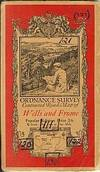 WELLS AND FROME; Ordinance Survey Contoured Road Map of Popular Edition, One Inch to One Mile