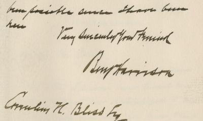 14/11/1892. Benjamin Harrison Benjamin Harrison, the sitting president, did not enjoy the Republican...