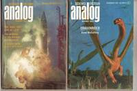 "Analog Science Fiction - Science Fact December 1967 & January 1968, 2 issues featuring ""Dragonrider"" by Anne McCaffrey, in 2 parts, + There is a Tide, Such Stuff as Dreams, The System, Whosawhatsa?, The Destiny of Milton Gomrath, Beak By Bea"