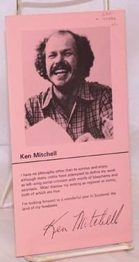 Ken Mitchell [brochure of poems]