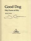 View Image 2 of 2 for Good Dog: Fifty Poems at Fifty Inventory #19100