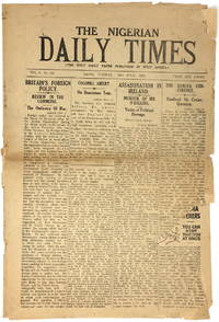 The Nigerian Daily Times, Two Issues from 1927 [Newspaper]