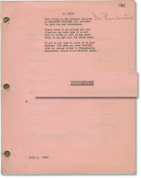 The Quarterback [Touchdown] (Original screenplay archive for the 1940 film, copy belonging to director H. Bruce Humberstone)