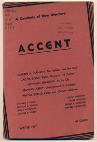 Accent Vol. XVII, No.1; A Quarterly of New Literature