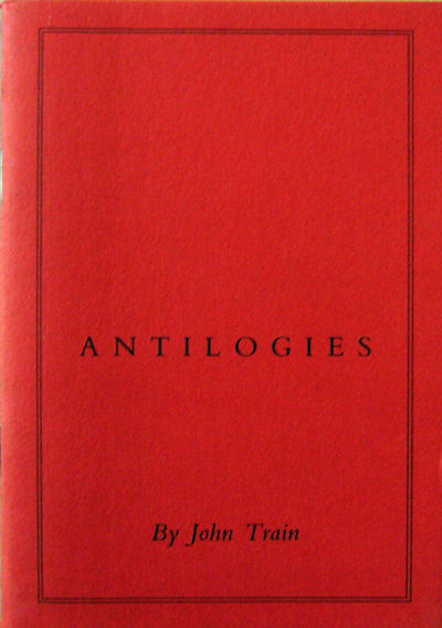 London: Nina Train Publisher, 1988. First edition. Paperback. Fine. 12mo. A 29 pp chapbook. Fine con...
