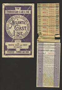 image of Atlantic Coast Line RR, 1918 signed & stamped ticket, with original envelope