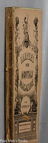 "HARPER'S NEW MONTHLY MAGAZINE. SEPTEMBER, 1892. FEATURING ""LOT NO. 249"""