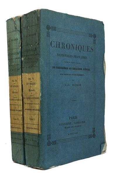 Paris: Verdiere, 826. Paperback. Very Good. 2 vols. xxxi, 468, 397p. Original blue wrappers with mou...