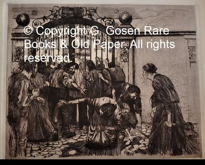 Kollwitz, Kathe, Sturm, 1897, etching, sheet 5 from the cycle, Ein Weberaufstand, ( A Weaver Riot). ...