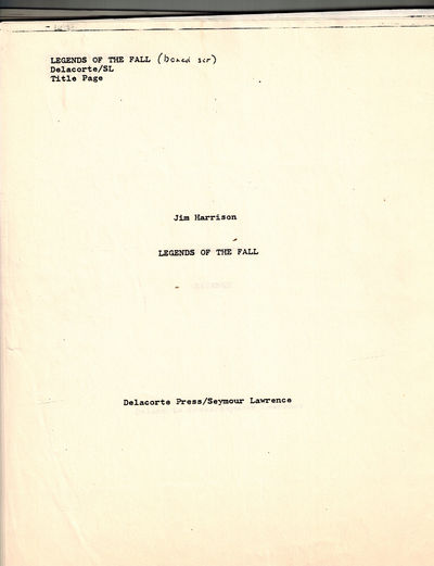 New York: Delacorte Press/Seymour Lawrence, 1979. A typed manuscript, there were reportedly only 20 ...