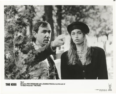 Culver City, CA: Tri-Star Pictures, 1988. Vintage reference photograph of director Pen Densham and J...
