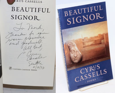 Port Townsend, WA: Copper Canyon Press, 1997. Paperback. 120p., personal inscription signed by the p...
